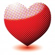 Royalty-Free Stock Imagen vectorial: Halftone love heart