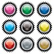 Royalty-Free Stock Vector Image: Halftone bevel button