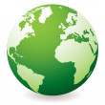 Green earth globe — Stock Vector