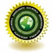 Green earth eco icon — 图库矢量图片
