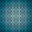 Gothic seamless blue wallpaper — Vector de stock #3423737