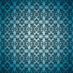 Gothic seamless blue wallpaper — Stock Vector