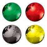 Gel globe variation — Stock Vector