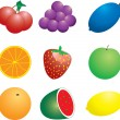 Stock Vector: Fruit n veg