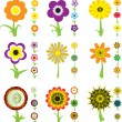 Stock Vector: Flower variation