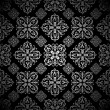 Royalty-Free Stock Vector Image: Floral wallpaper silver tile