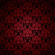 Floral gothic red — Stockvectorbeeld
