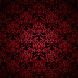 Floral gothic red — Stock vektor