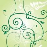 Постер, плакат: Floral green burst