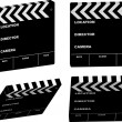 Film clapper variation — Stock Vector