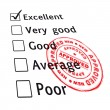 Stock Vector: Excellent evaluation pass