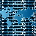 Digital world — Stock Vector