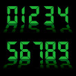 Digital numbers clock — Stock Vector