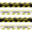 Crime scene tape - Stock Vector