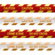 Stock Vector: Crime scene tape red