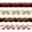Crime scene tape modern — Stock Vector