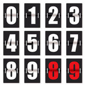 Number clock counter black — Stock Vector