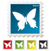 Nature butterfly stamp — Stock Vector