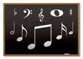 Musical blackboard — Stock Vector