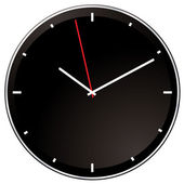 Modern negative clock — Vetorial Stock