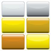 Metallic oblong web buttons — Stock Vector