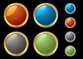 Metal rim buttons — Stock Vector