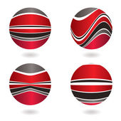 Marble swirl red — Stock Vector