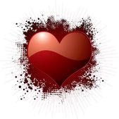 Love splat red — Stock Vector