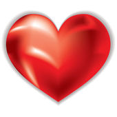 Love heart shimmer — Stock Vector