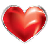 Love heart shimmer silver — Stock Vector