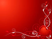 Love heart invite — Stock Vector