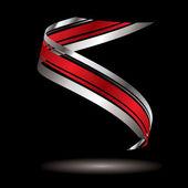 Logo swirl silver — Stock Vector