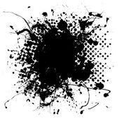 Large halftone ink splat — Stock Vector