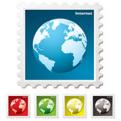 Internet world stamp — Stock Vector