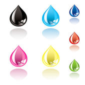 Ink droplet — Stock Vector