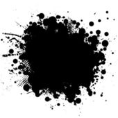 Ink blk rnd — Stock Vector