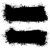 Mürekkep siyah grunge afiş — Stok Vektör