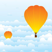 Hot air balloon in clouds — Stock Vector