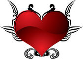 Heart tattoo — Stock Vector