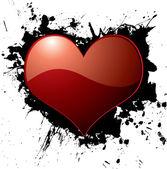 Heart ink splat — Stock Vector
