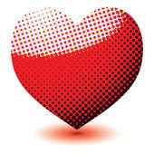 Halftone love heart — Stock Vector