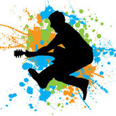 Guitar jump — Stock Vector