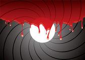Namlu kan içinde — Stok Vektör