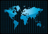 Grid world black — Stock Vector