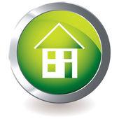 Green icon house — Stock Vector