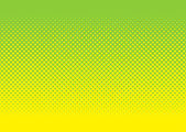 Green and yellow halftone pattern — Stock Vector
