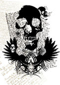 Gothic skull — Stock Vector