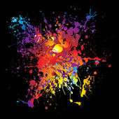 Gothic grunge rainbow splat — Stock Vector