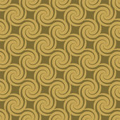 Golden swirl pattern — Stock Vector