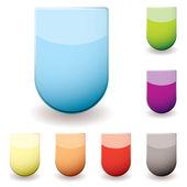 Glass sheild icon — Stock Vector